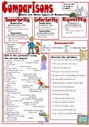 English Worksheet: Comparisons II