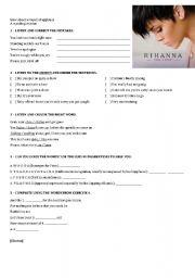 English Worksheets: Rihanna - Take a Bow