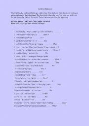 English Worksheet: Jumbled Sentences Part 4.