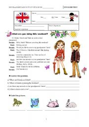 English Worksheet: Test A - 6th grade
