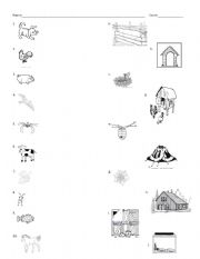 English Worksheets Animal And Their Homes