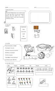 English Worksheet: HAPPY STREET 1  PART1