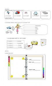English Worksheet: happy street 1 PART2
