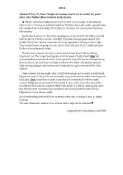 English Worksheet: a story about cyberbullying a reading test for fourth form arts tunisian pupils