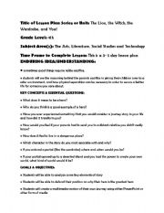 English Worksheets: The Lion The Witch and the Wardrobe