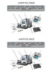 English Worksheet: Computer parts