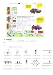 English Worksheet: Asking and telling the way PART 3
