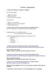 English Worksheets: how to make a question - worksheet