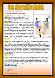 English Worksheet: Reading comprehension (debate)