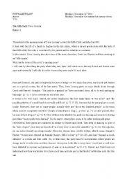 English Worksheet: The fifth child worksheet 1
