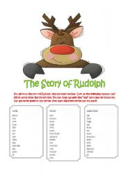 English Worksheet: The Story of Rudolph