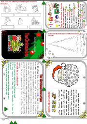 The Christmas tree minibook.