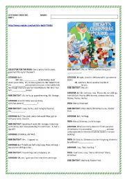 English teaching worksheets: Mickey´s Christmas Carol