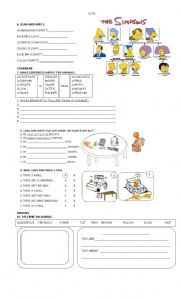 English Worksheet: HAPPY STREET 2PART2