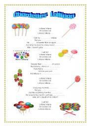 English worksheet: SONG. Lollipop, the Chordettes