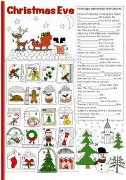 English Worksheets: Christmas Eve