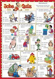 English Worksheet: Jobs Quiz
