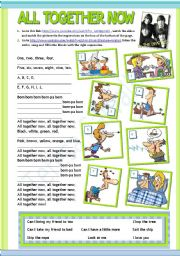 English Worksheet: ALL TOGETHER NOW by the Beatles