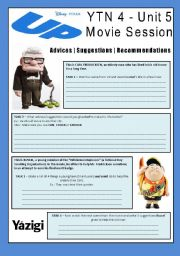 English Worksheet: Movie - UP - Suggestions / Recommendations / Advices (Can, Could, Should)