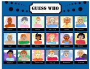 English Worksheet: Guess Who 18 faces - 1/4