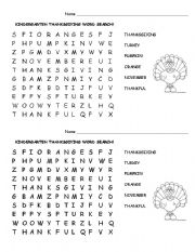 math worksheet : english worksheets kindergarten thanksgiving word search : English Worksheet Kindergarten