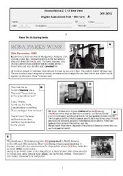 English Worksheets: English Assessment Test