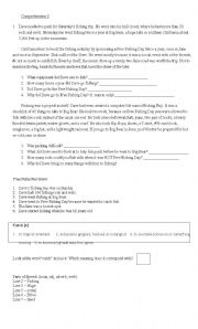 English Worksheets: Comprehension exercise