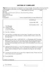 Letter of complaint esl worksheet by seal english worksheet letter of complaint expocarfo Image collections