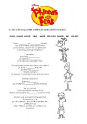 English Worksheets: Phineas and Ferb