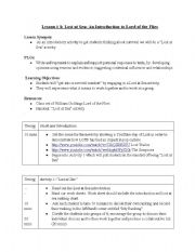 English Worksheet: Lord of the Flies intro