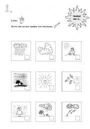 weather worksheet esl worksheet by sarahliebtbacke. Black Bedroom Furniture Sets. Home Design Ideas