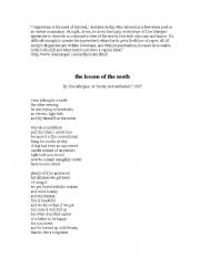 English Worksheets: The Lesson of the Moth