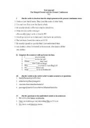 English Worksheets: simple continuous