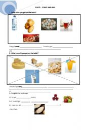 English Worksheet: SOME ANY FOOD