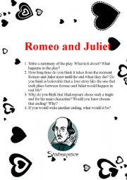 romeo and juliet movie study guide worksheet