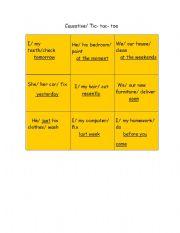 English worksheet: Causative Tic Tac Toe game