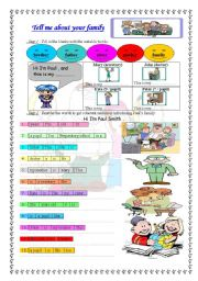 English Worksheets: writing about family for brginners