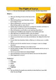 English Worksheets: The Flight of Icarus
