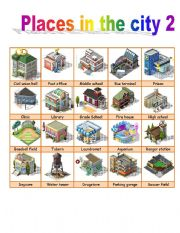 places in the city part 2 esl worksheet by ivettemoreno. Black Bedroom Furniture Sets. Home Design Ideas