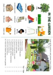 English Worksheet: HOUSE - In the garden - 5/5
