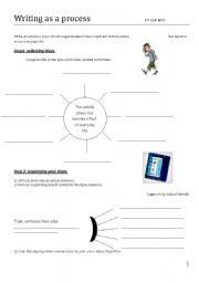 English Worksheets: writing process worksheet