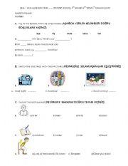 (1-1) Test for  grade 4