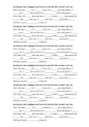 English worksheet: About myself