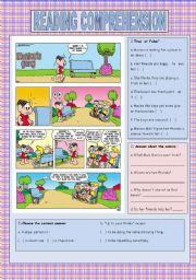English Worksheets: Monica�s gang comics