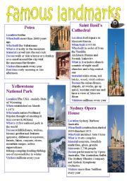 English Worksheets: Famous Landmarks1
