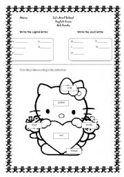 English Worksheets: letters and animals