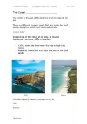 English Worksheets: The coast