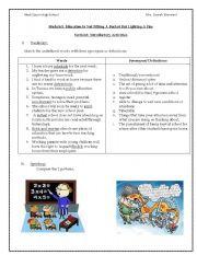 English Worksheets: virtual schools