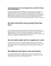 English Worksheets: Aesop Lesson on Leadership