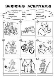 Summer Activities Worksheet